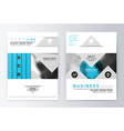 Blue annual Report Brochure vector image vector image