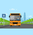 bus driver picture vector image