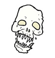 Comic cartoon scary skull vector image