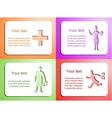 Doctor card set vector image