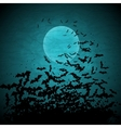 Halloween background with moon and bats vector image