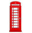 Telephone box vector image