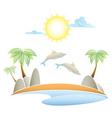 tropical island summer landscape vector illustrati vector image