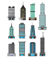 different kinds of buildings cartoon vector image