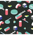 Postmodern 80s style seamless pattern 3d vector image