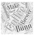 bunn coffee Word Cloud Concept vector image
