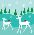 white deer vector image