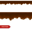 Melted Chocolate Drips Seamless Border vector image