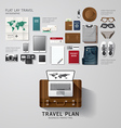 Infographic travel business flat lay idea hipster vector image