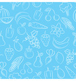 food seamless background vector image