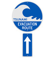 Tsunami Evacuation Route vector image