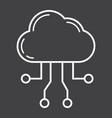 cloud computing line icon seo and development vector image