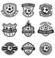 football club emblems on white background soccer vector image
