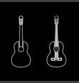 Guitar white color path icon vector image