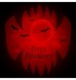 Halloween background with sharp teeth vector image