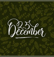 merry christmas brush lettering typography vector image