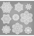 paper cut snowflakes vector image