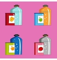 Set jars with tinned vegetables and fruits vector image