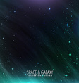 galaxy and space background vector image