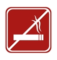 restricted cigarette smoke square sign vector image