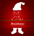 Merry Christmas postcard with Christmas decoration vector image