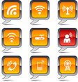 Communication balloon icons vector image