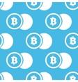 Bitcoin coin pattern vector image