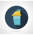 Flat color icon for supplements shaker vector image