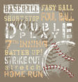 baseball terms revise vector image vector image