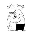 Bear Wedding Couple vector image