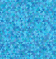 blue triangles pattern vector image
