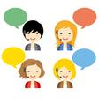 avatar girls call center vector image