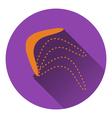 Icon of boomerang vector image