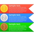 Colorful bright banners vector image vector image