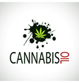 Cannabis Oil-Marijuana vector image