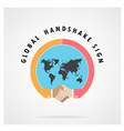Handshake abstract sign design template vector image