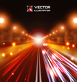 red tint night road vector image
