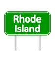 Rhode Island green road sign vector image