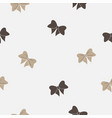 seamless pattern with bows on white background vector image