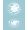 Set of two shiny diamonds vector image