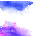 violet pink purple magenta and blue watercolor vector image