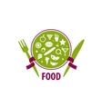 logo food vector image