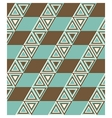 Fashion pattern with triangles vector image vector image