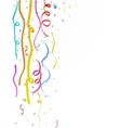 Colorful party streamer vector image