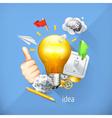 Idea concept business brainstorming Set i vector image
