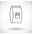 Pet food bag vector image