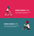 cycling banner vector image vector image