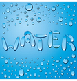 Water drop word vector image vector image