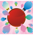 balloons label pink vector image vector image