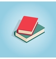 Two books icon isometric 3d style vector image